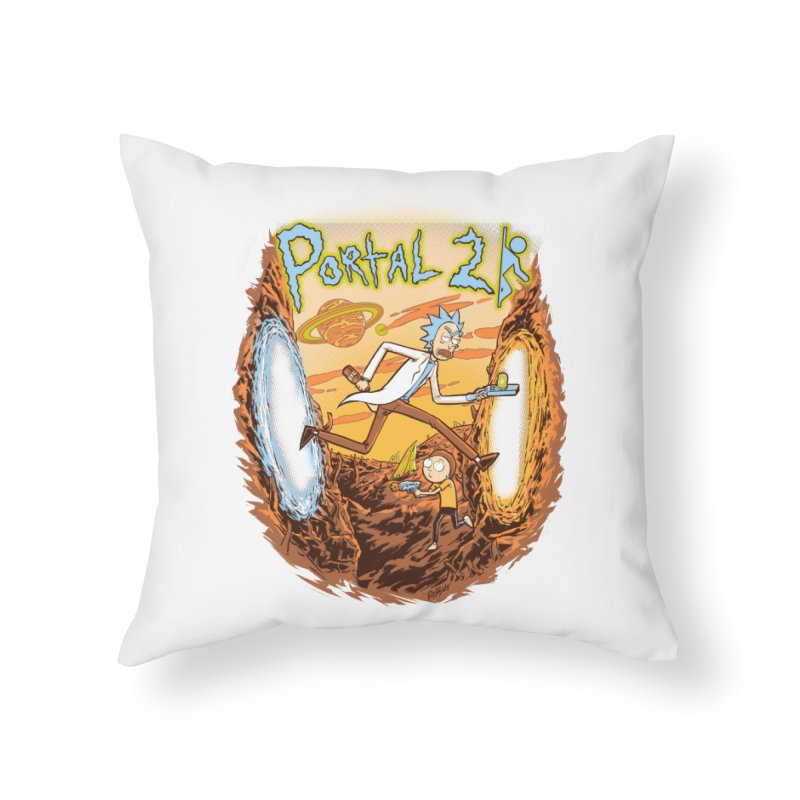 Portal Rick and Morty Home Throw Pillow by Red Bug's Artist Shop