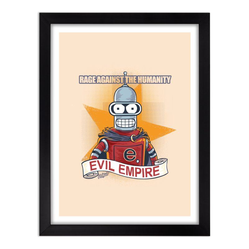 Rage Against the Humanity Home Framed Fine Art Print by Red Bug's Artist Shop