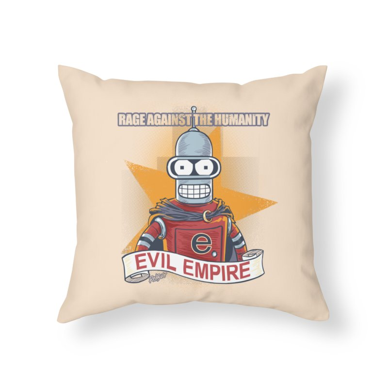 Rage Against the Humanity Home Throw Pillow by Red Bug's Artist Shop