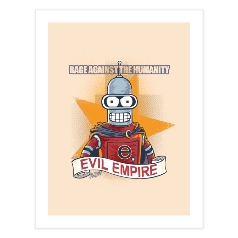 Rage Against the Humanity Home Fine Art Print by Red Bug's Artist Shop