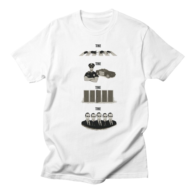 The Bands  in Men's Regular T-Shirt White by Red Bug's Artist Shop