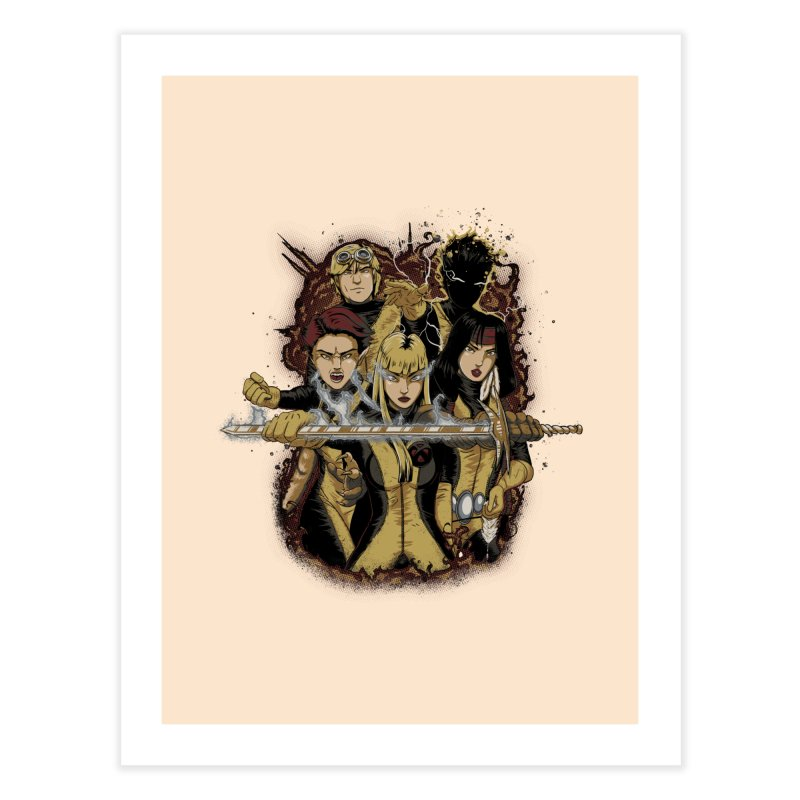 The New Mutants Home Fine Art Print by Red Bug's Artist Shop
