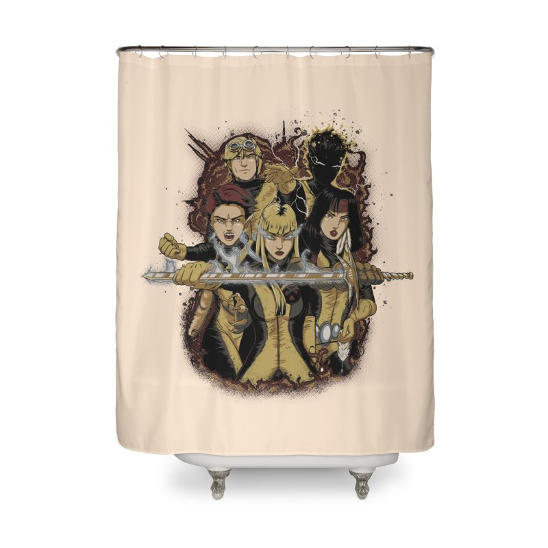 The New Mutants Home Shower Curtain by Red Bug's Artist Shop