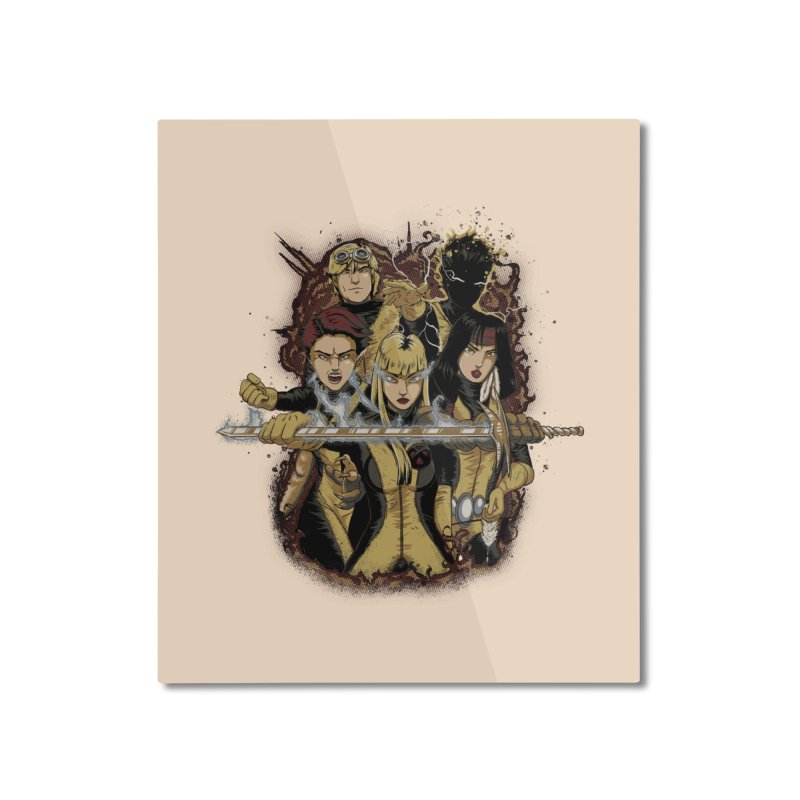 The New Mutants Home Mounted Aluminum Print by Red Bug's Artist Shop