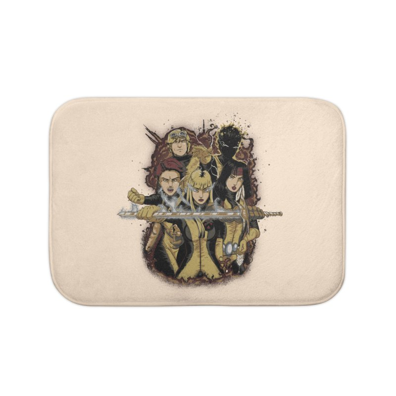 The New Mutants Home Bath Mat by Red Bug's Artist Shop