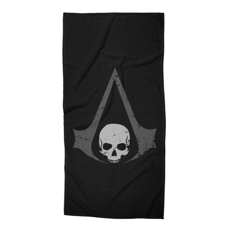Black Flag Accessories Beach Towel by Red Bug's Artist Shop