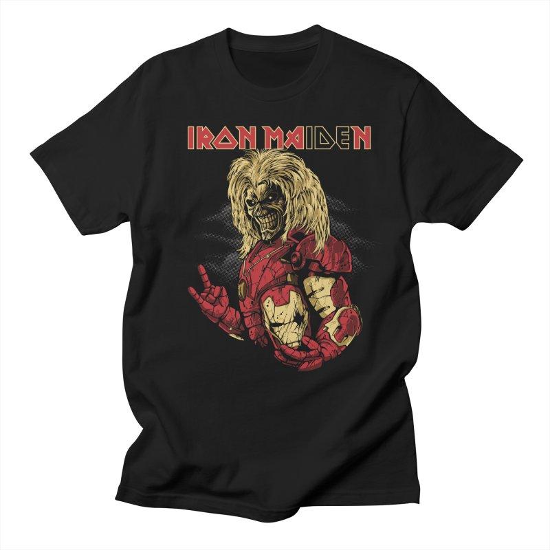 Iron Maiden in Men's Regular T-Shirt Black by Red Bug's Artist Shop