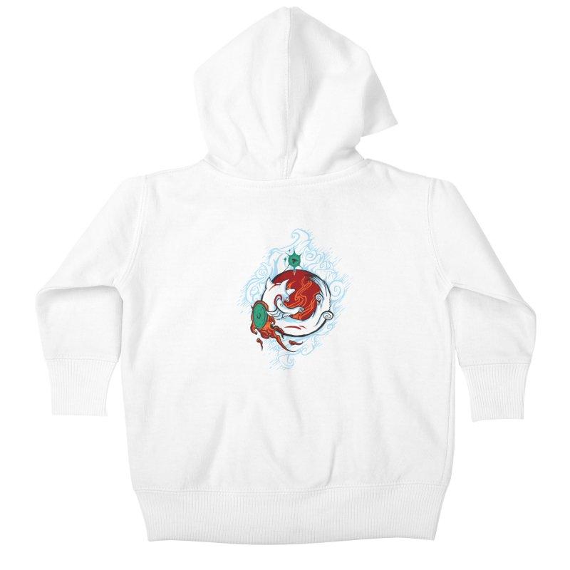 Okami Kids Baby Zip-Up Hoody by Red Bug's Artist Shop