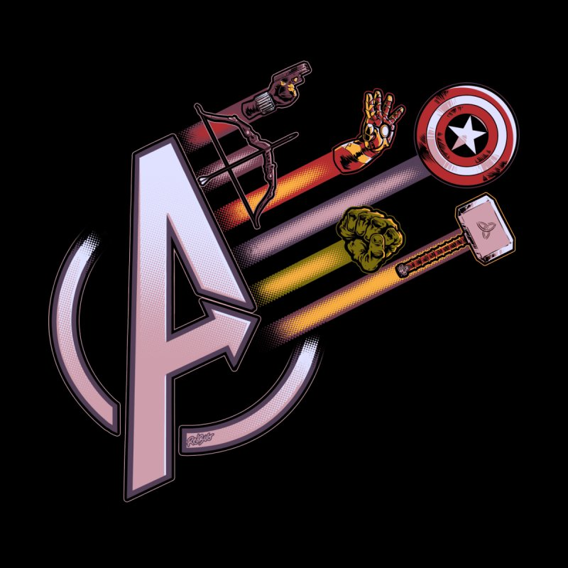 Avengers Weapons Kids Baby Bodysuit by Red Bug's Artist Shop