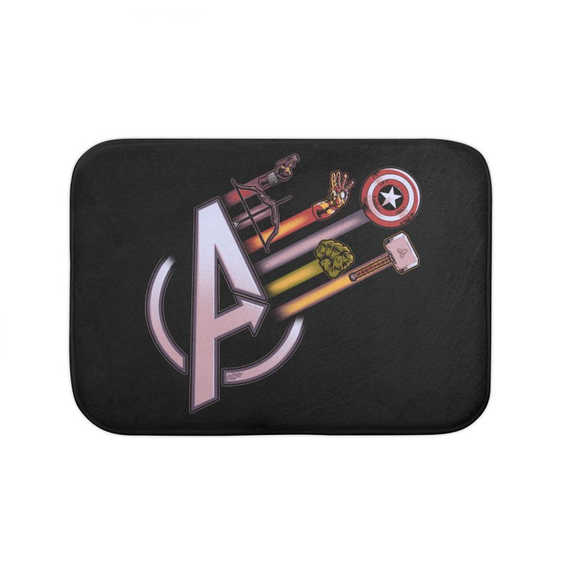 Avengers Weapons Home Bath Mat by Red Bug's Artist Shop