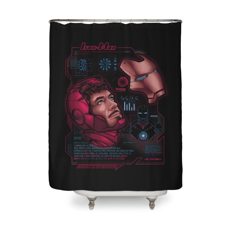 Deconstruction Home Shower Curtain by Red Bug's Artist Shop