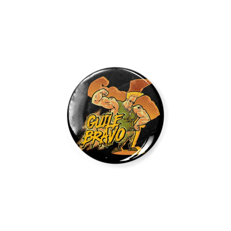 Guile Bravo Accessories Button by Red Bug's Artist Shop