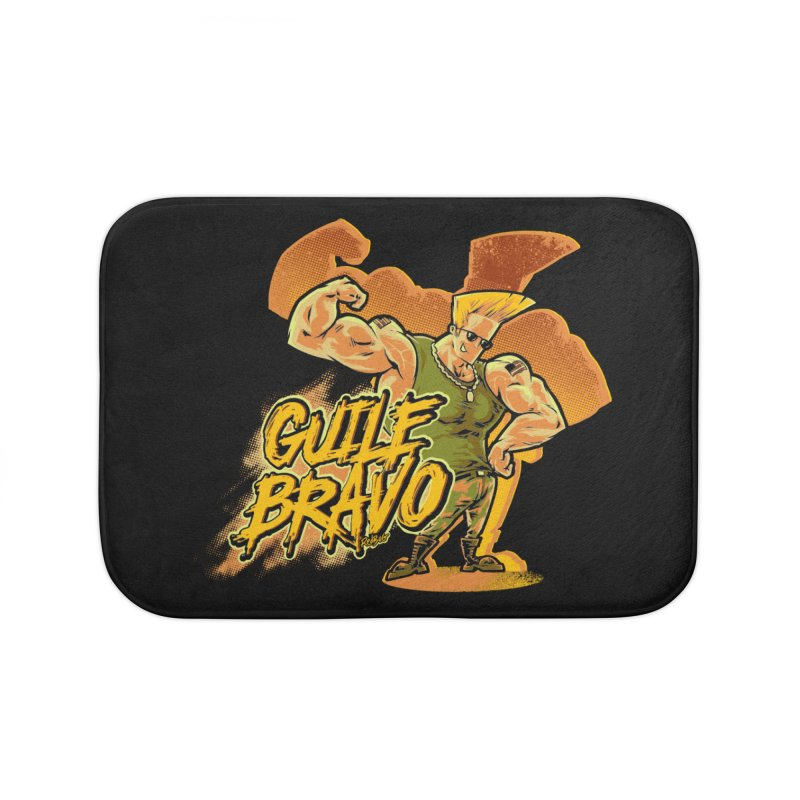 Guile Bravo Home Bath Mat by Red Bug's Artist Shop