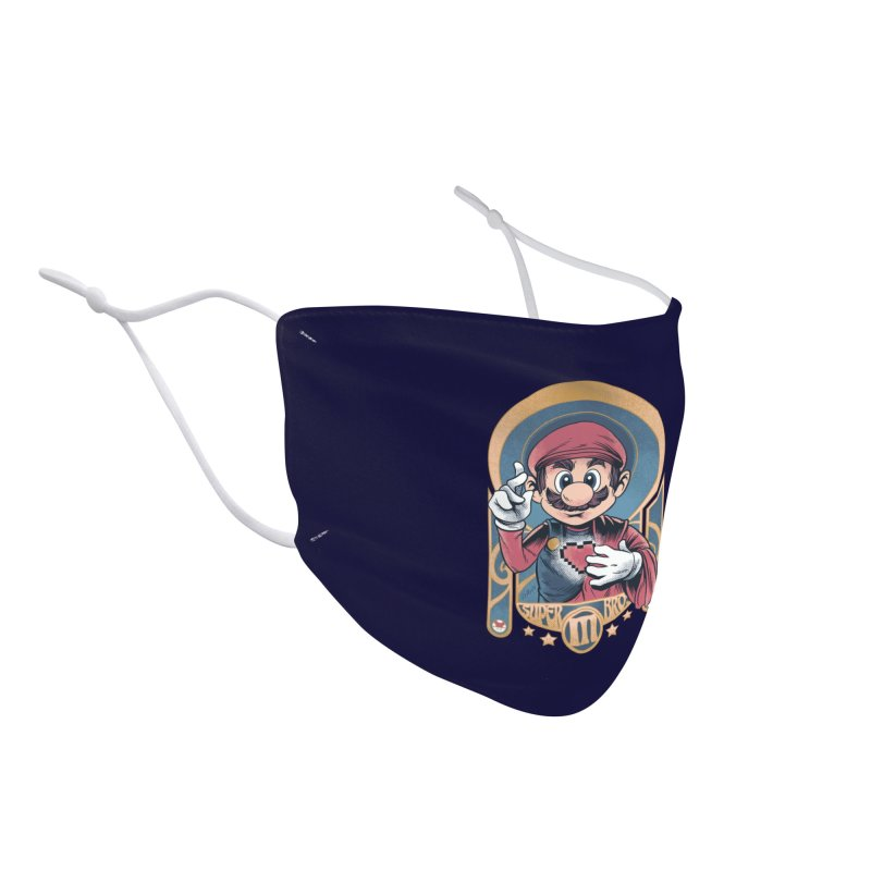 São Mario Accessories Face Mask by Red Bug's Artist Shop