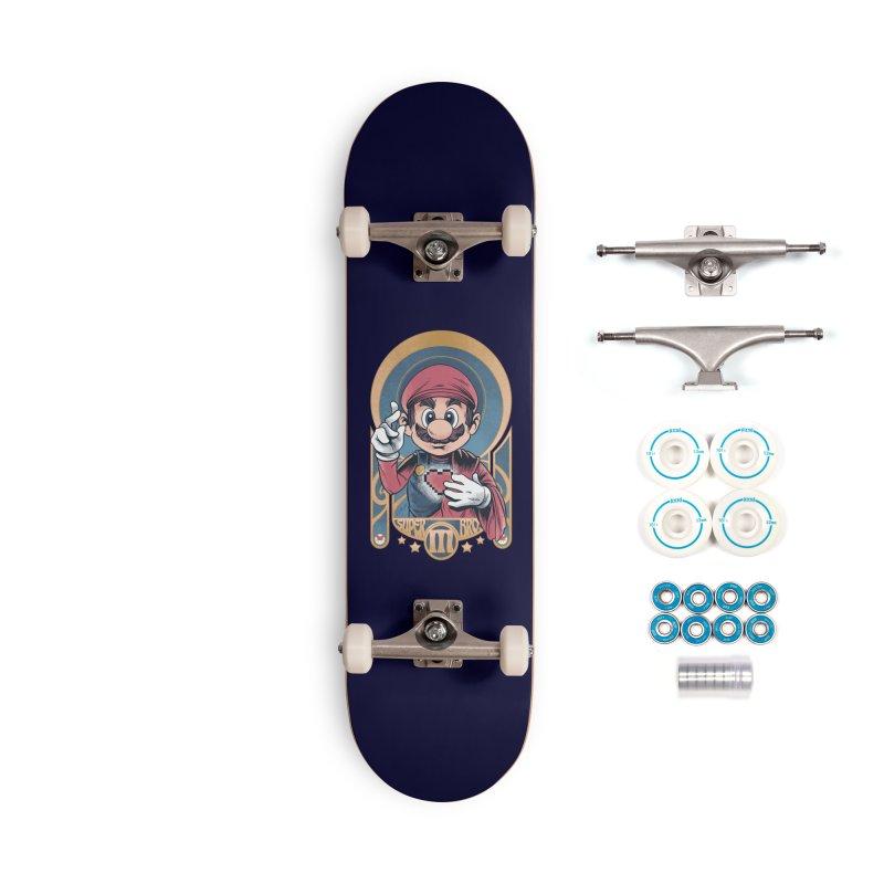 São Mario Accessories Skateboard by Red Bug's Artist Shop