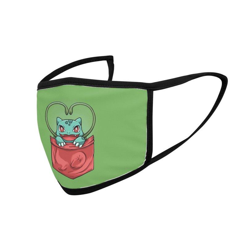 Pokétmon Bulbasaur Accessories Face Mask by Red Bug's Artist Shop