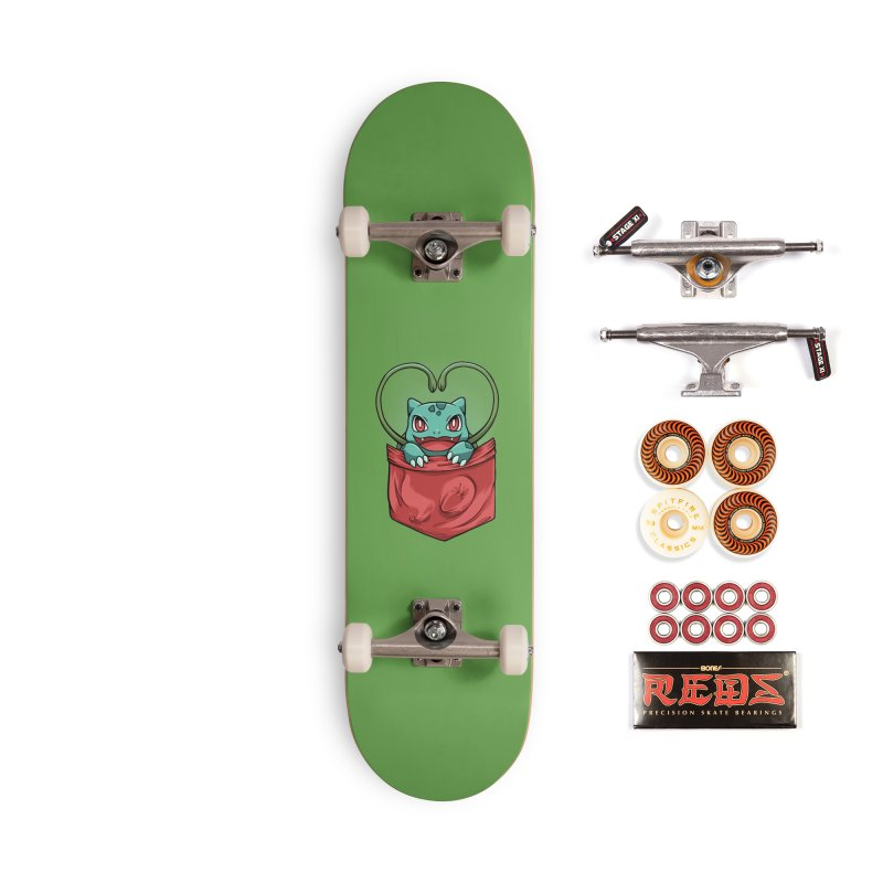 Pokétmon Bulbasaur Accessories Skateboard by Red Bug's Artist Shop