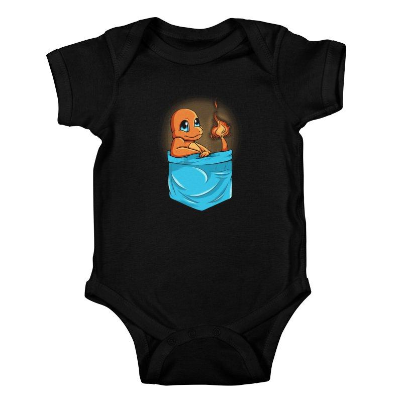 Pokétmon Charmander Kids Baby Bodysuit by Red Bug's Artist Shop