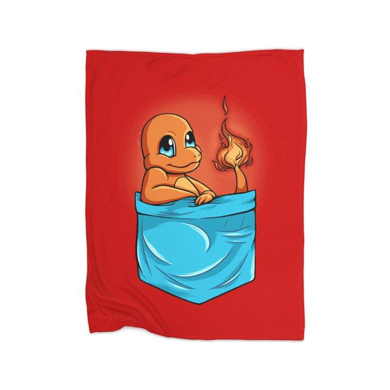 Pokétmon Charmander Home Blanket by Red Bug's Artist Shop