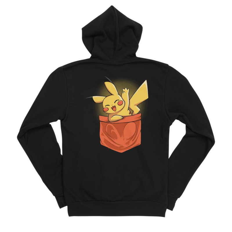 Pokétmon Pikachu Men's Zip-Up Hoody by Red Bug's Artist Shop