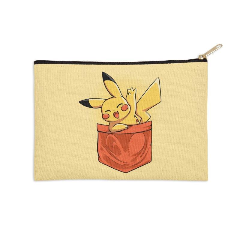Pokétmon Pikachu Accessories Zip Pouch by Red Bug's Artist Shop