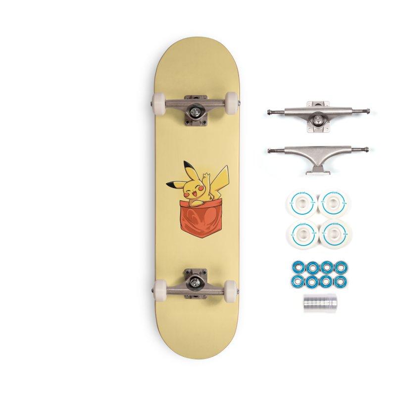 Pokétmon Pikachu Accessories Skateboard by Red Bug's Artist Shop