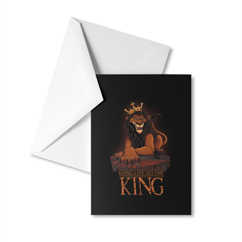 Long life to the King Accessories Greeting Card by Red Bug's Artist Shop