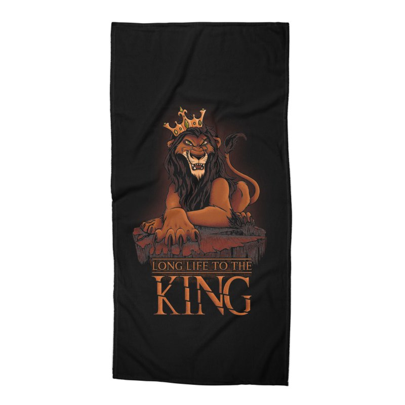 Long life to the King Accessories Beach Towel by Red Bug's Artist Shop
