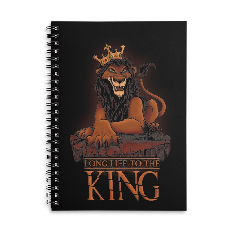 Long life to the King Accessories Notebook by Red Bug's Artist Shop