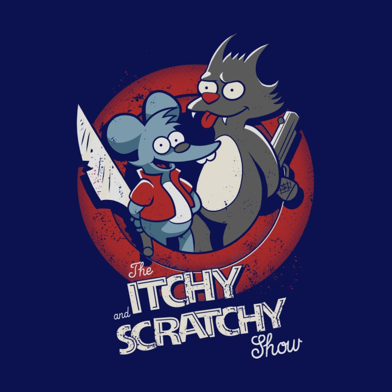 Itchy and Scratchy Men's T-Shirt by Red Bug's Artist Shop