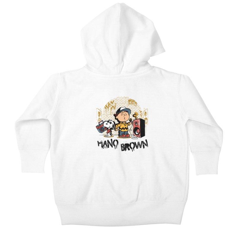 Mano Brown Kids Baby Zip-Up Hoody by Red Bug's Artist Shop