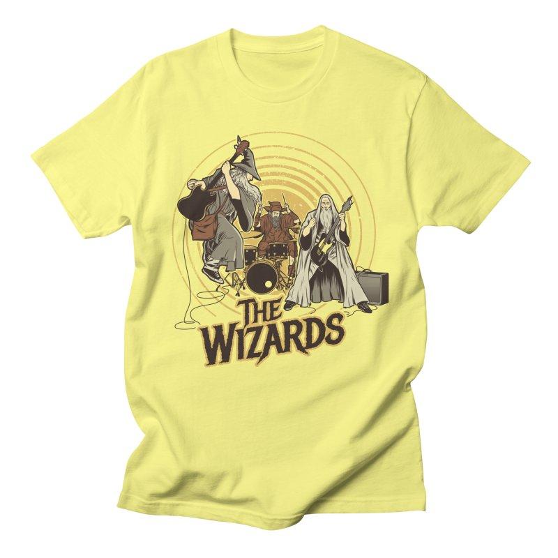 The Wizards in Men's Regular T-Shirt Lemon by Red Bug's Artist Shop