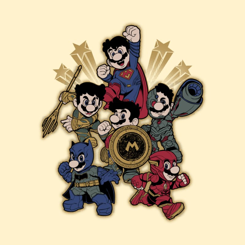 Mario of Justice Kids Baby Zip-Up Hoody by Red Bug's Artist Shop