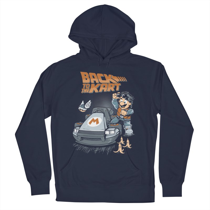 Back to the kart Men's French Terry Pullover Hoody by Red Bug's Artist Shop