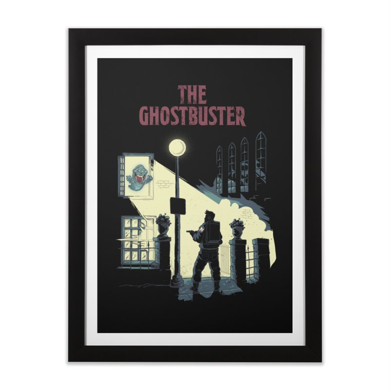 The Ghostbuster Home Framed Fine Art Print by Red Bug's Artist Shop