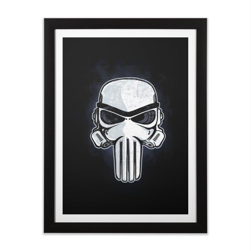 Storm Punisher Home Framed Fine Art Print by Red Bug's Artist Shop