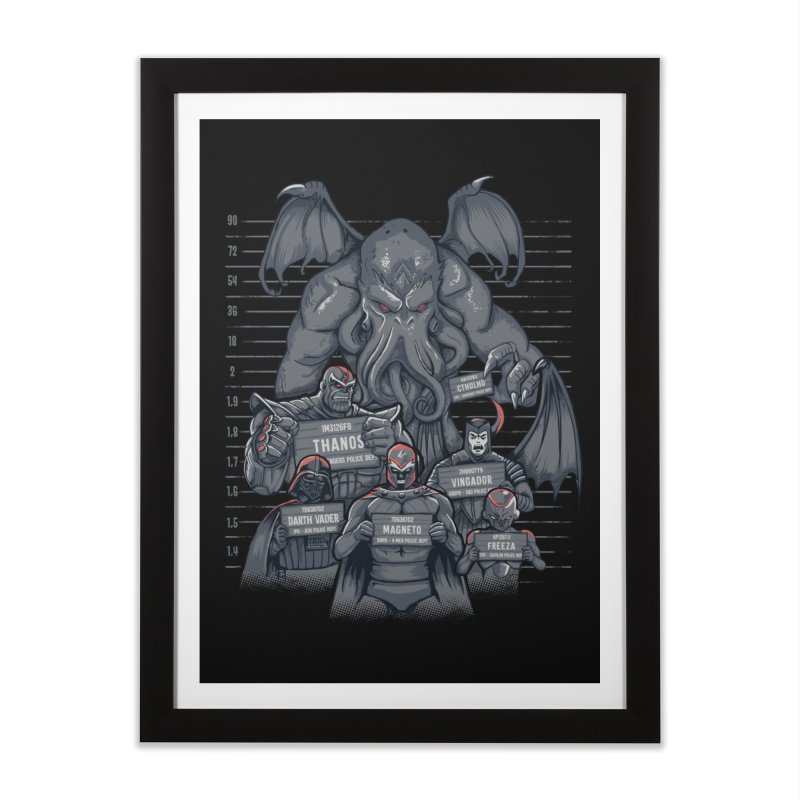 The Suspects Home Framed Fine Art Print by Red Bug's Artist Shop