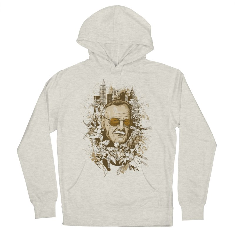 Stan Lee Men's French Terry Pullover Hoody by Red Bug's Artist Shop