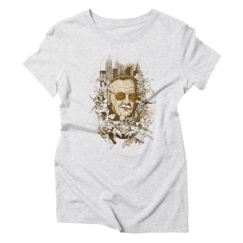 Stan Lee Women's Triblend T-Shirt by Red Bug's Artist Shop