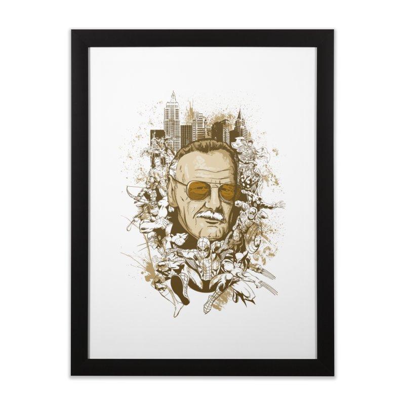 Stan Lee Home Framed Fine Art Print by Red Bug's Artist Shop