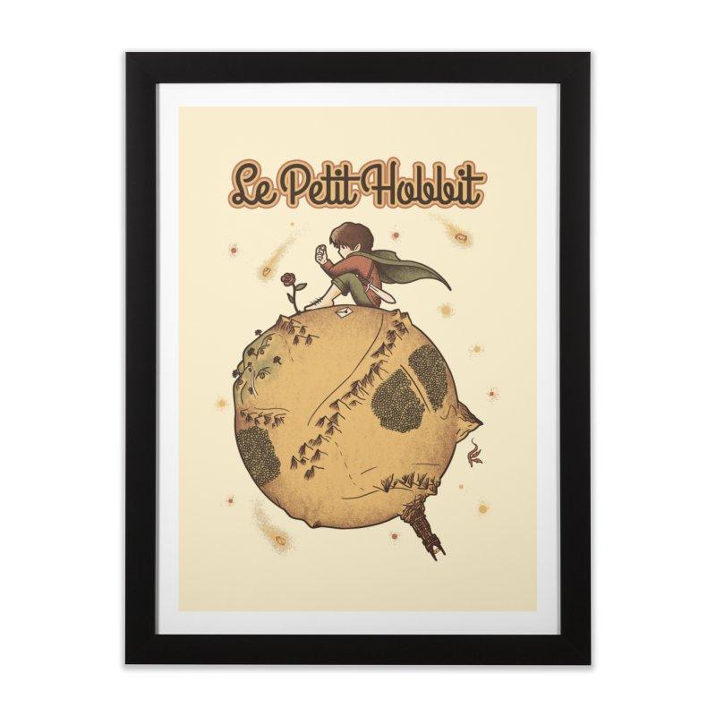 Le Petit Hobbit Home Framed Fine Art Print by Red Bug's Artist Shop