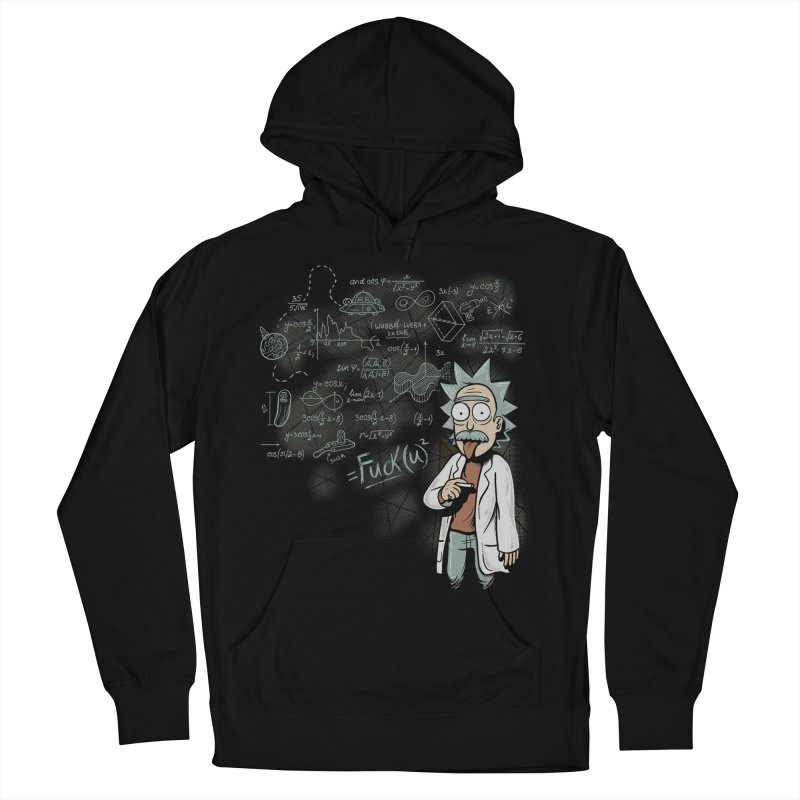 Fuck Rick Men's French Terry Pullover Hoody by Red Bug's Artist Shop