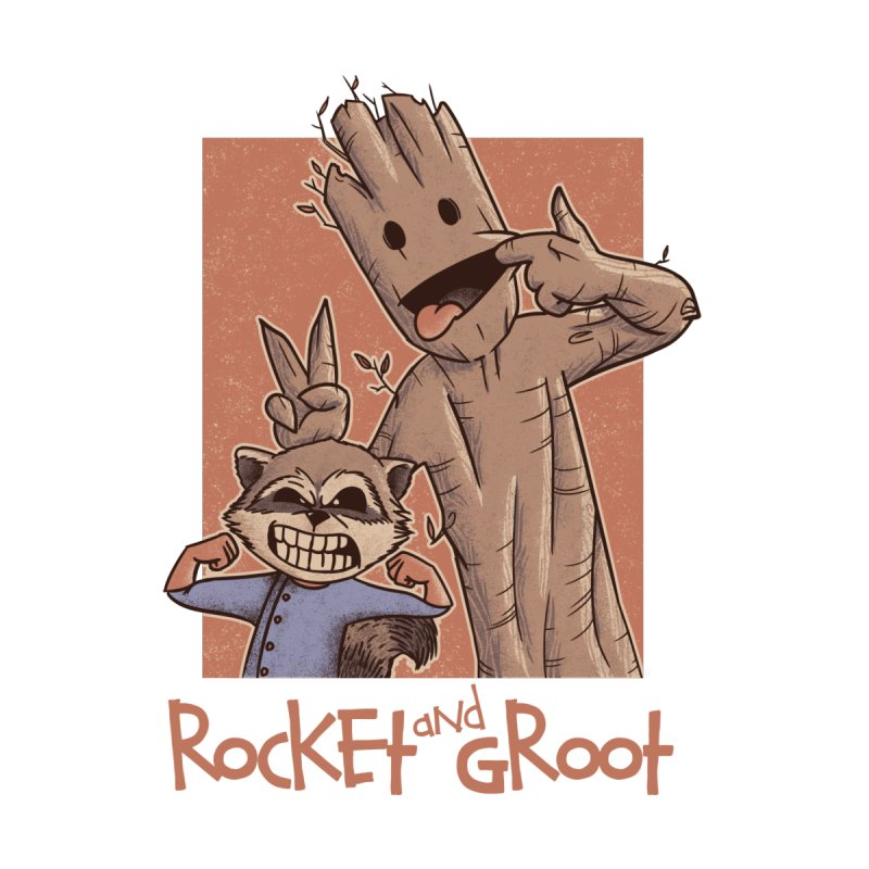 Rocket and Groot Kids Baby Zip-Up Hoody by Red Bug's Artist Shop
