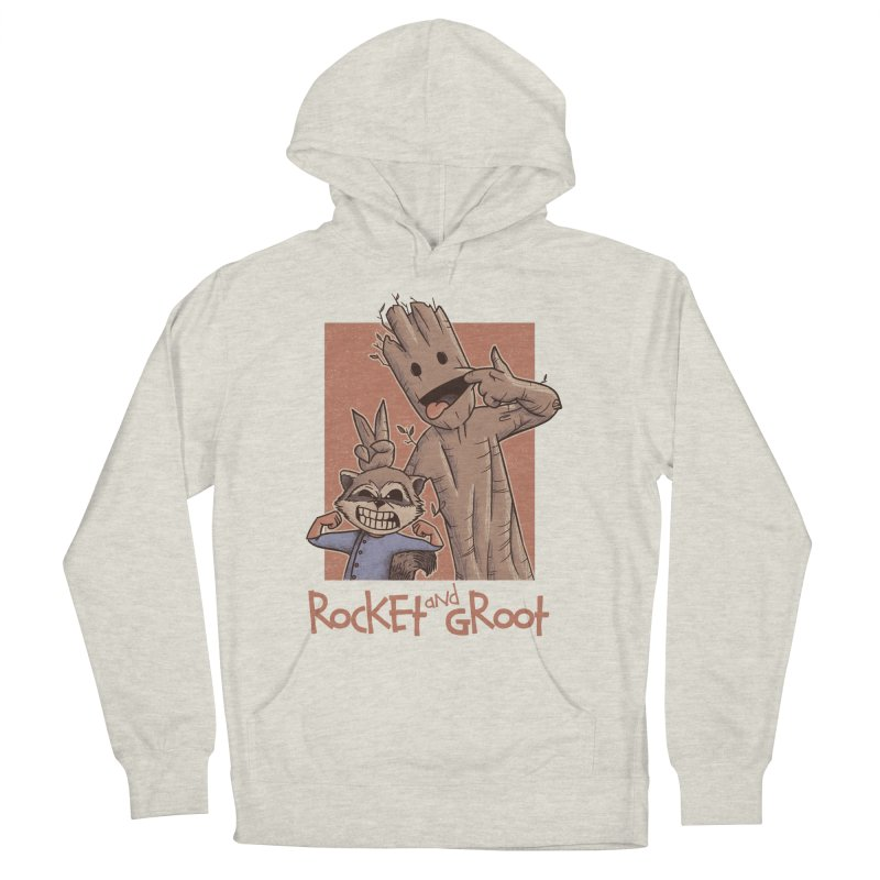 Rocket and Groot Men's French Terry Pullover Hoody by Red Bug's Artist Shop