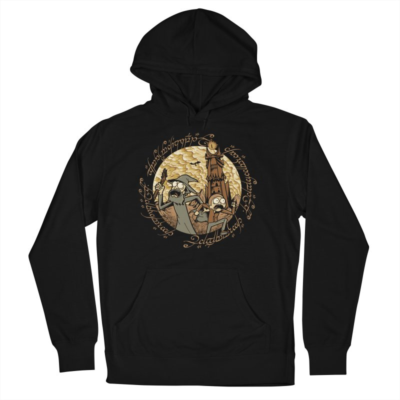 Rick em Mordor Men's French Terry Pullover Hoody by Red Bug's Artist Shop