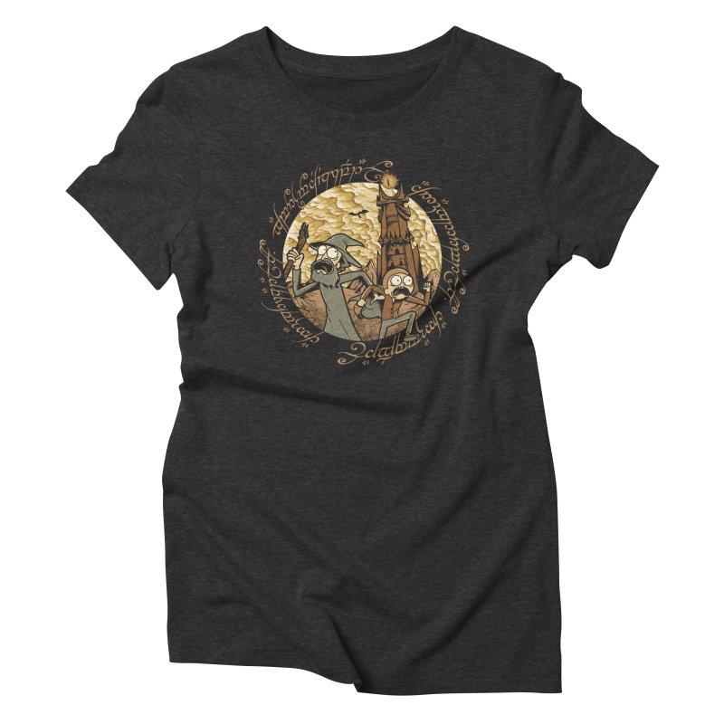 Rick em Mordor Women's Triblend T-Shirt by Red Bug's Artist Shop