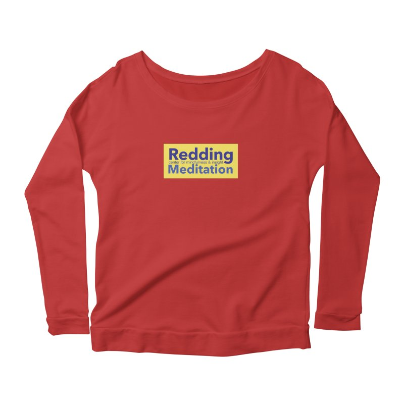 Redding Wear 1 Women's Longsleeve Scoopneck  by reddingmeditation's Artist Shop