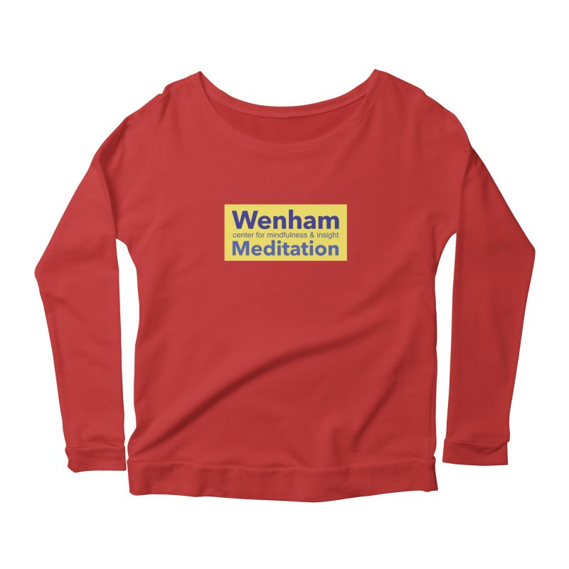 Wenham Wear 1 Women's Longsleeve Scoopneck  by reddingmeditation's Artist Shop