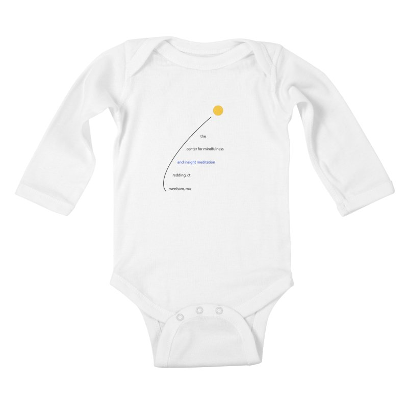 Swoosh Kids Baby Longsleeve Bodysuit by Redding Meditation's Artist Shop
