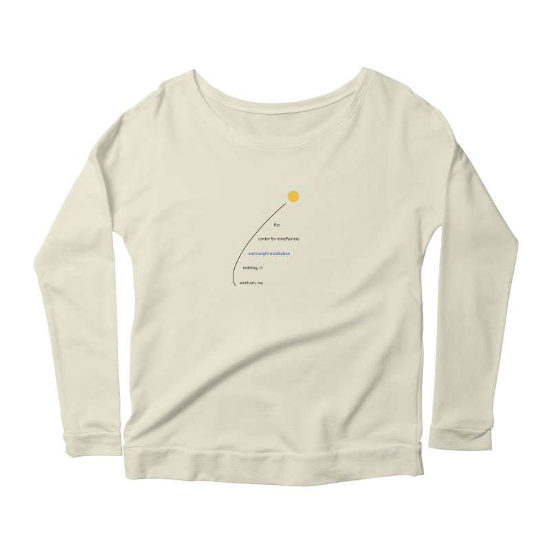 Swoosh Women's Longsleeve Scoopneck  by reddingmeditation's Artist Shop